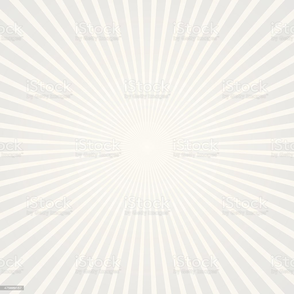 Starburst background with white & gray color tones vector art illustration