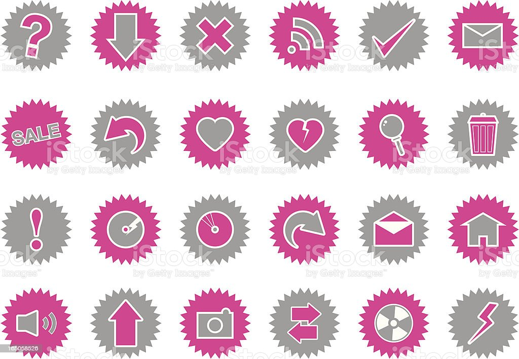 Starburst Icons royalty-free stock vector art
