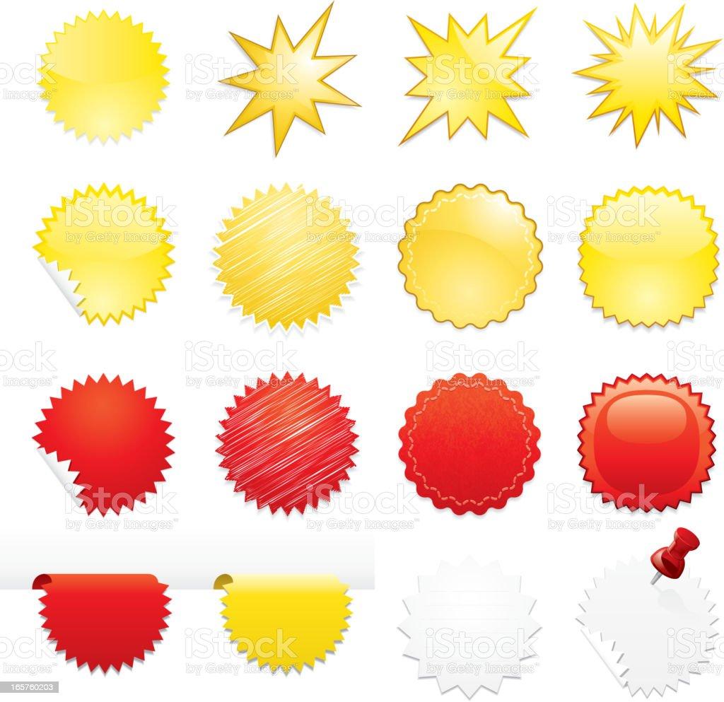 Starburst icons vector art illustration