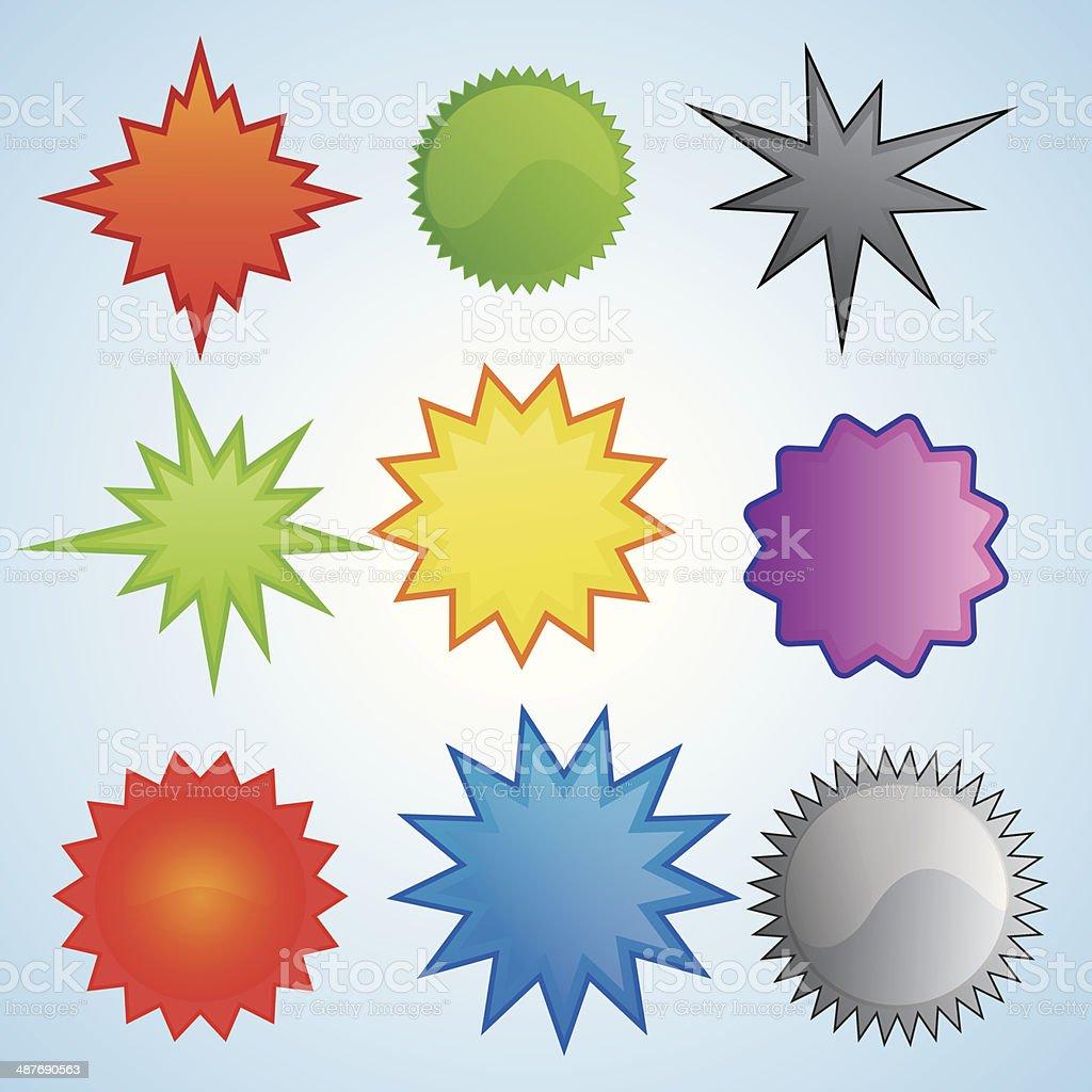 Starbursts Illustration vector art illustration