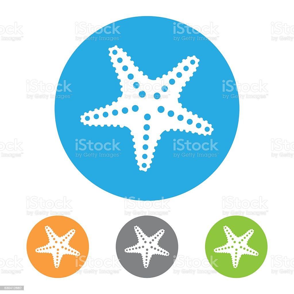 Starfish Icon vector art illustration