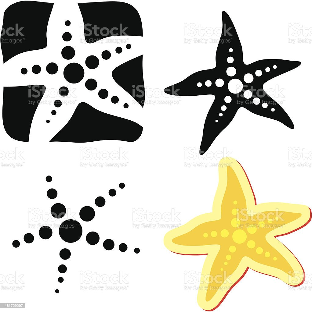 Starfish. Sea star vector art illustration