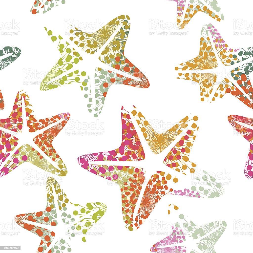 Starfish seamless pattern vector art illustration