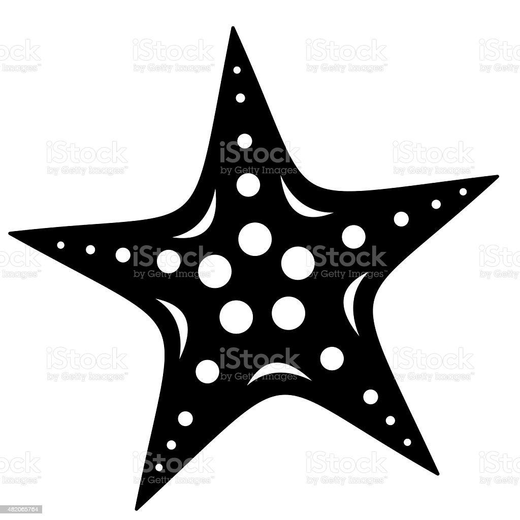 starfish, tattoo vector art illustration