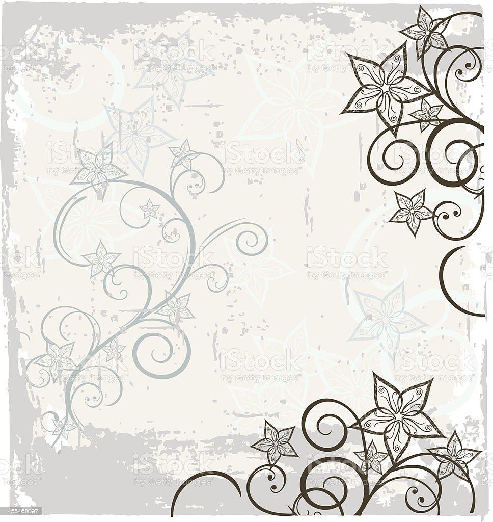 Starflower grunge royalty-free stock vector art