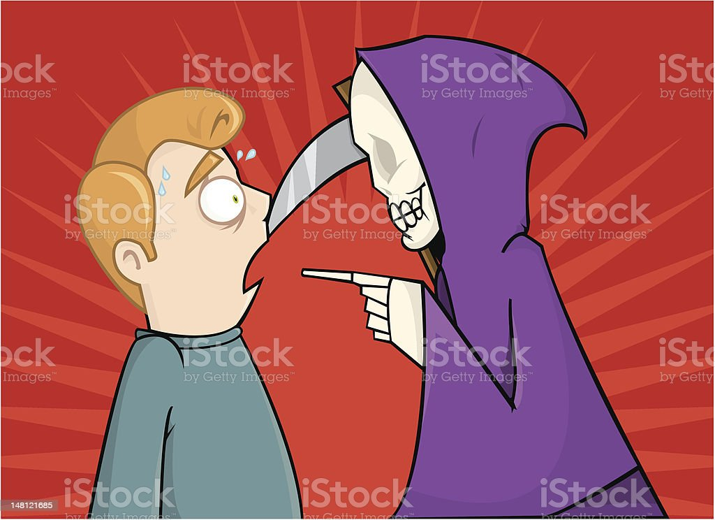 Staring death in the face royalty-free stock vector art