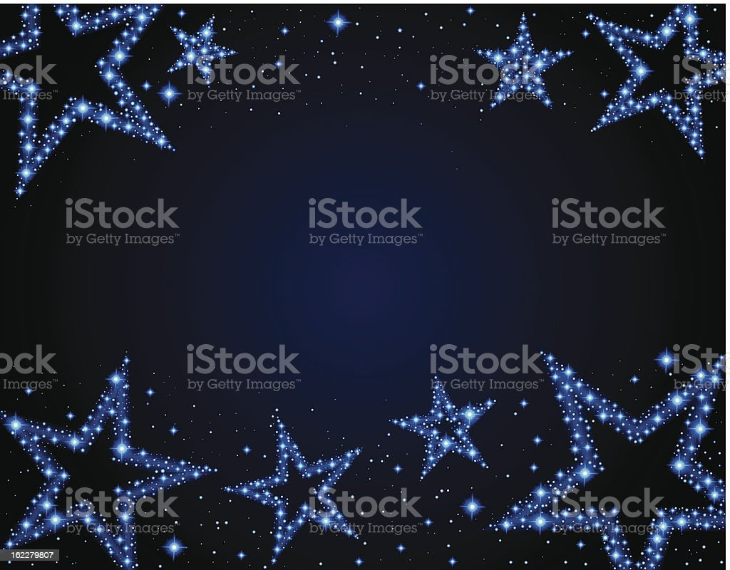 Starry background royalty-free stock vector art