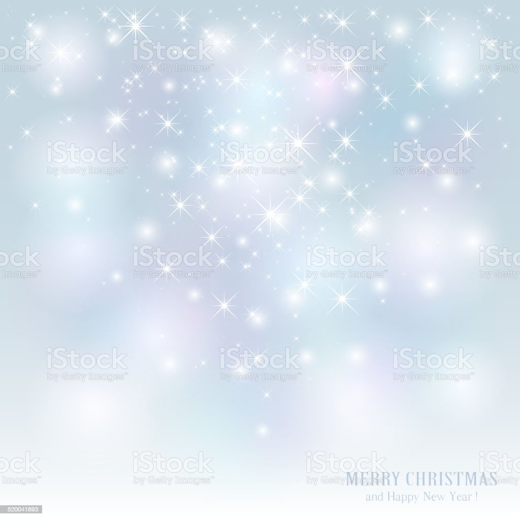 Starry Christmas background vector art illustration