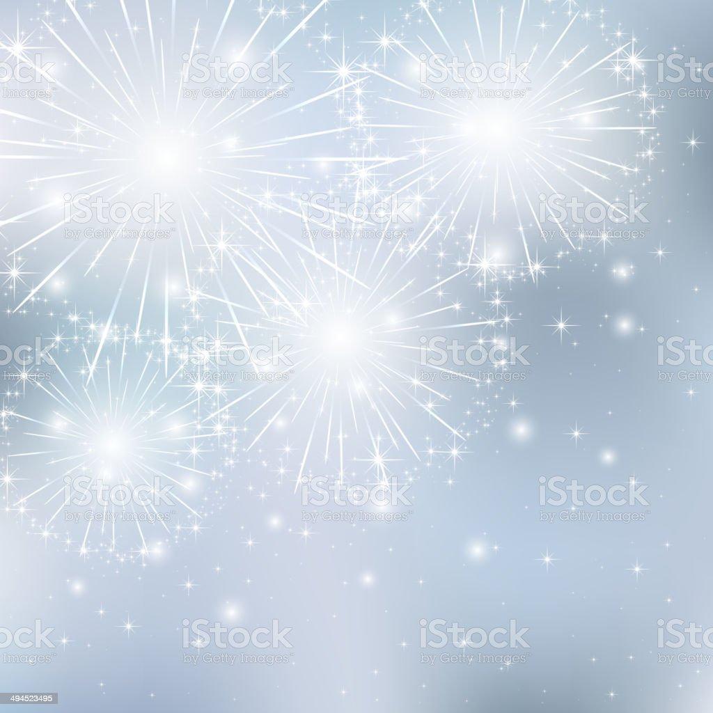 Starry firework vector art illustration