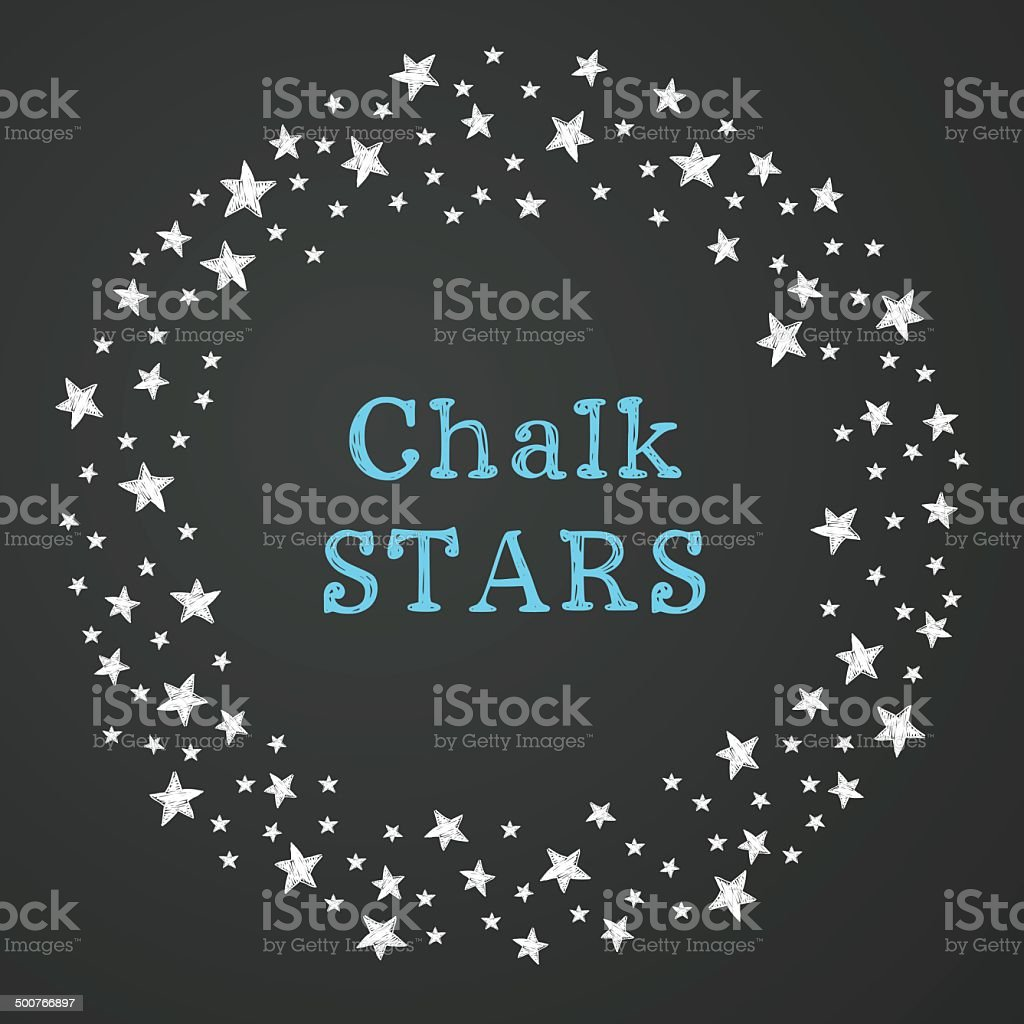 Starry frame vector art illustration