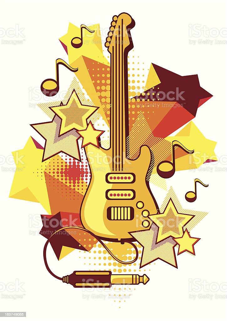 Starry guitar royalty-free stock vector art