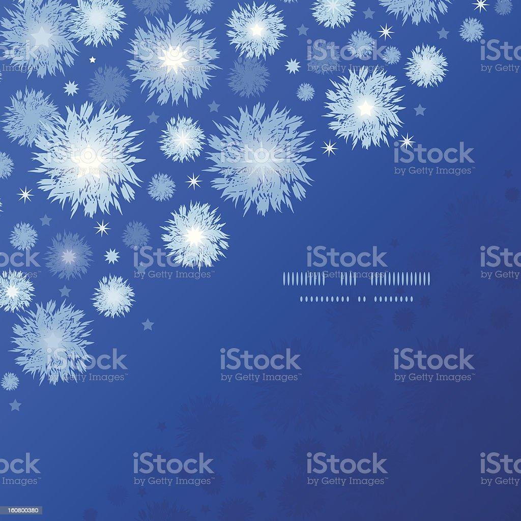 Starry night corner seamless pattern template background royalty-free stock vector art
