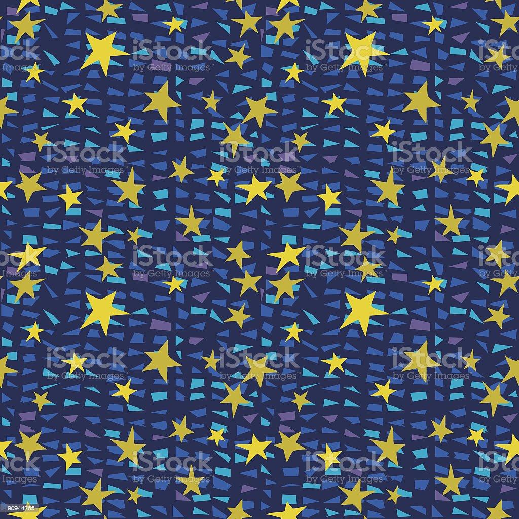 Starry Night Seamless Pattern royalty-free stock vector art