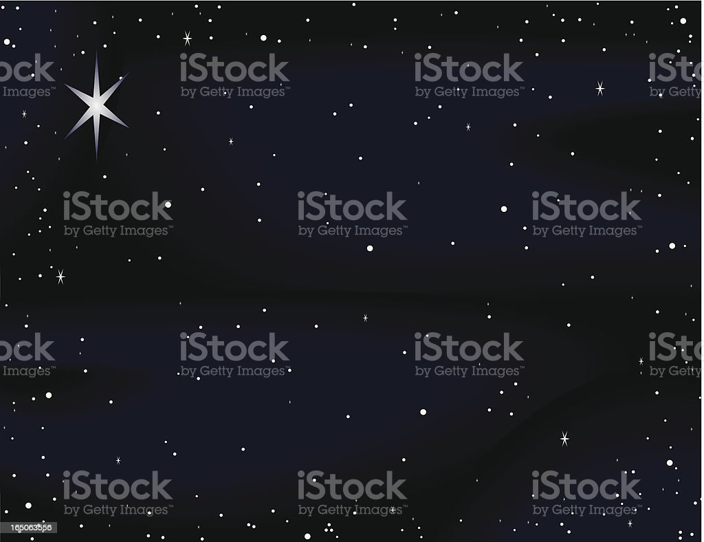 Starry Night royalty-free stock vector art