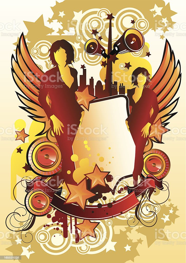 Starry style royalty-free stock vector art