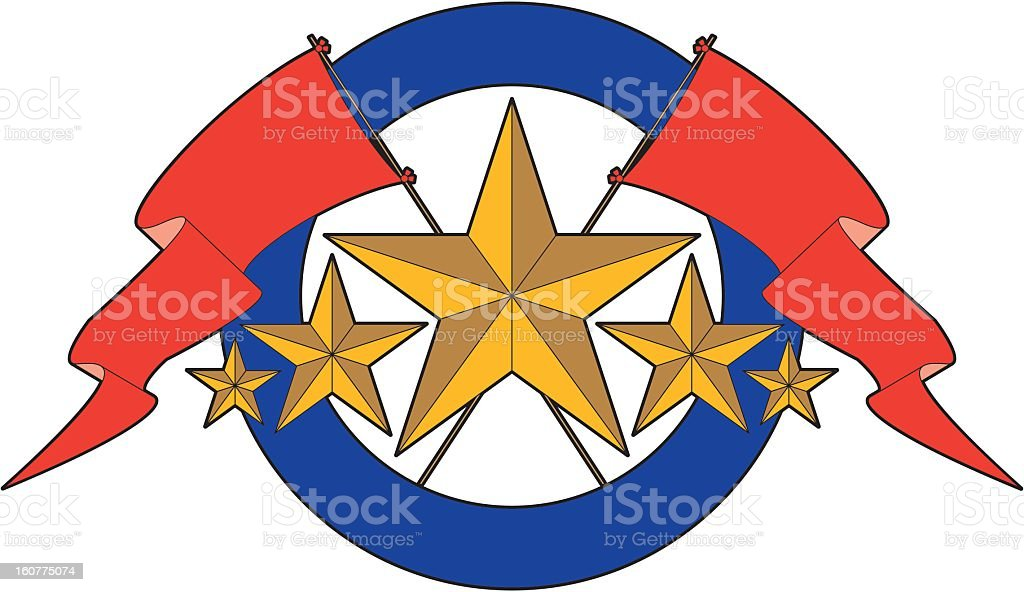 Stars and Flags royalty-free stock vector art