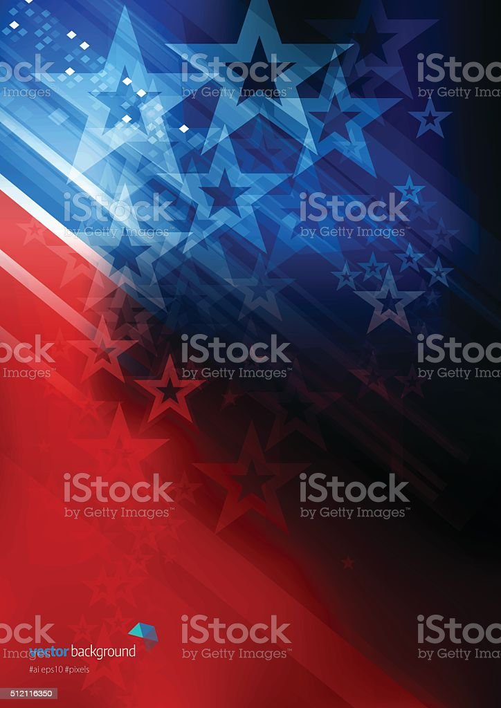 Stars and Stripes abstract background vector art illustration