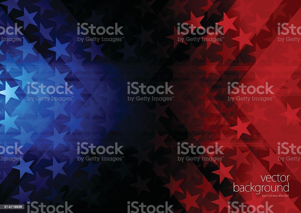 Stars and stripes background vector art illustration