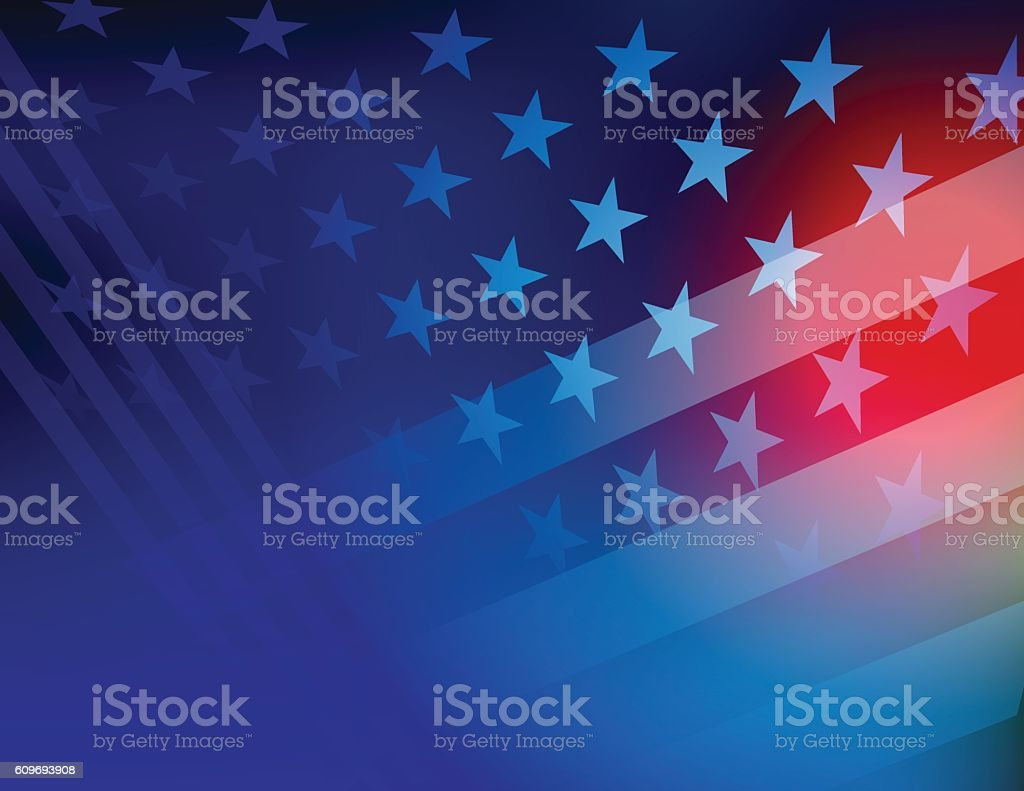 USA Stars and stripes background vector art illustration