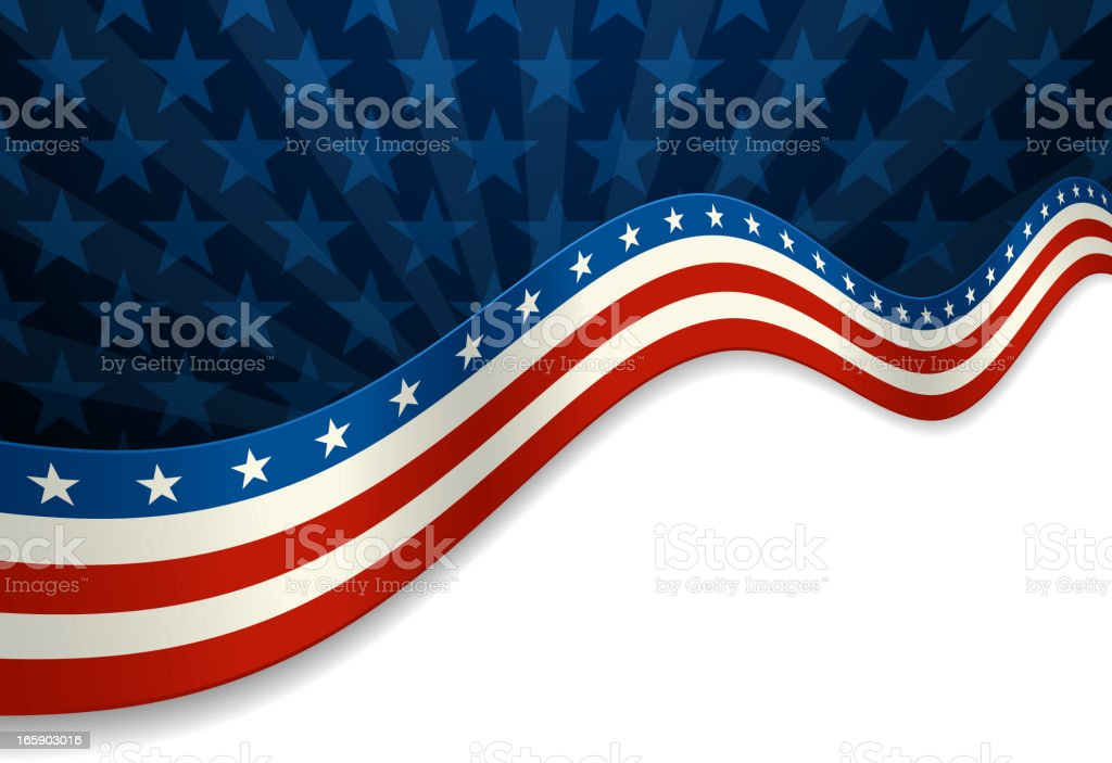 Stars and Stripes Banner royalty-free stock vector art