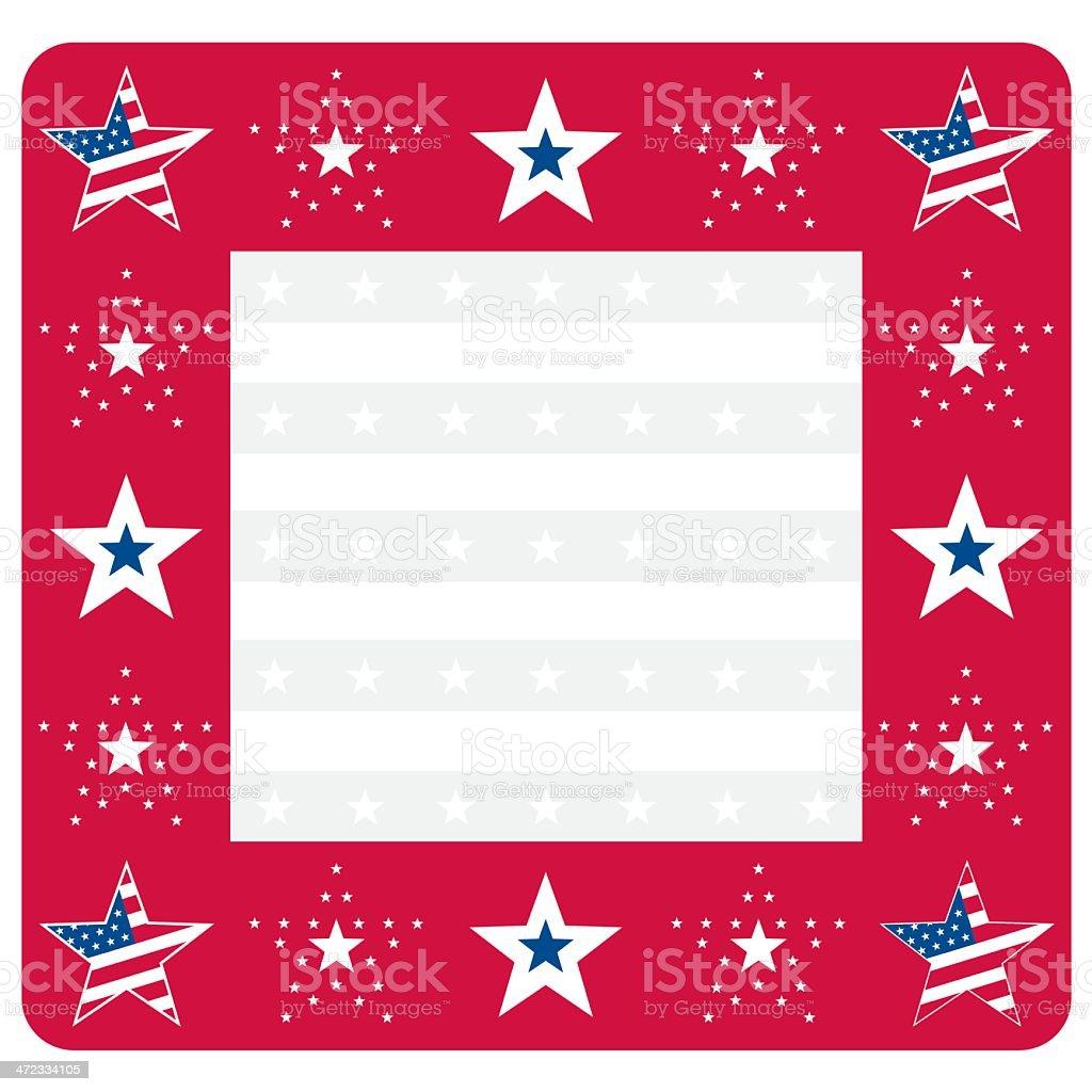 USA Stars and Stripes Frame or Border Design royalty-free stock vector art