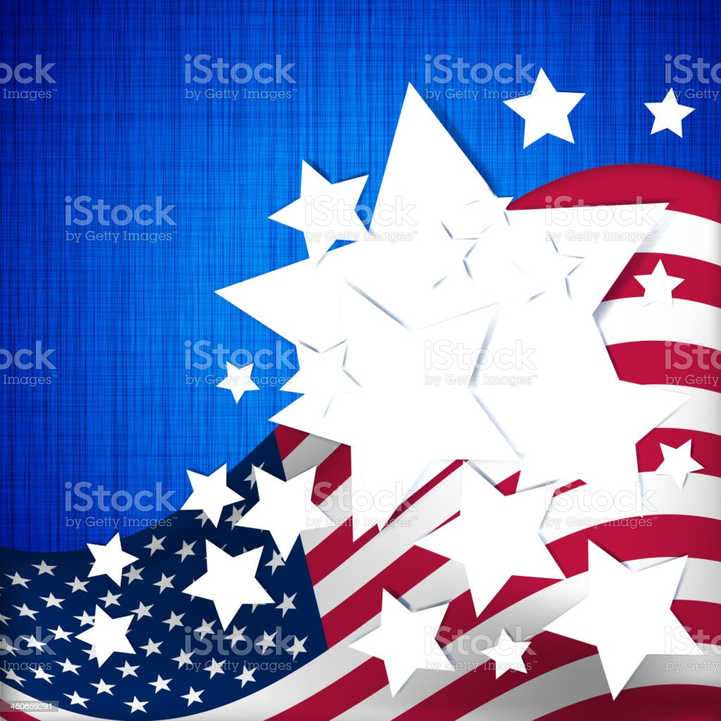 Stars and stripes royalty-free stock vector art