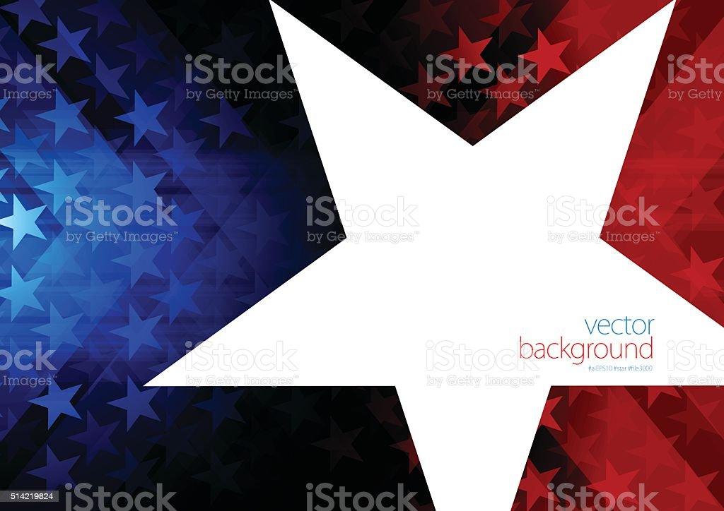 Stars and stripes vector art illustration