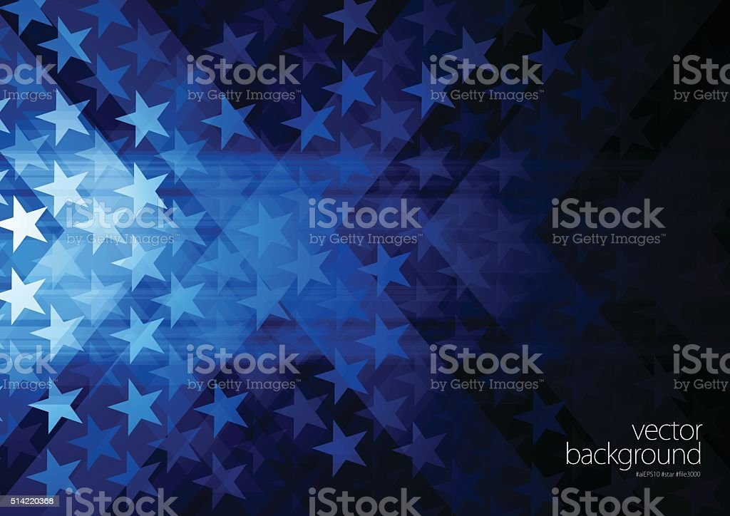 Stars and stripes vector art illustration