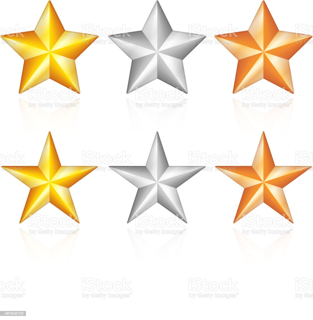 Stars Collection vector art illustration