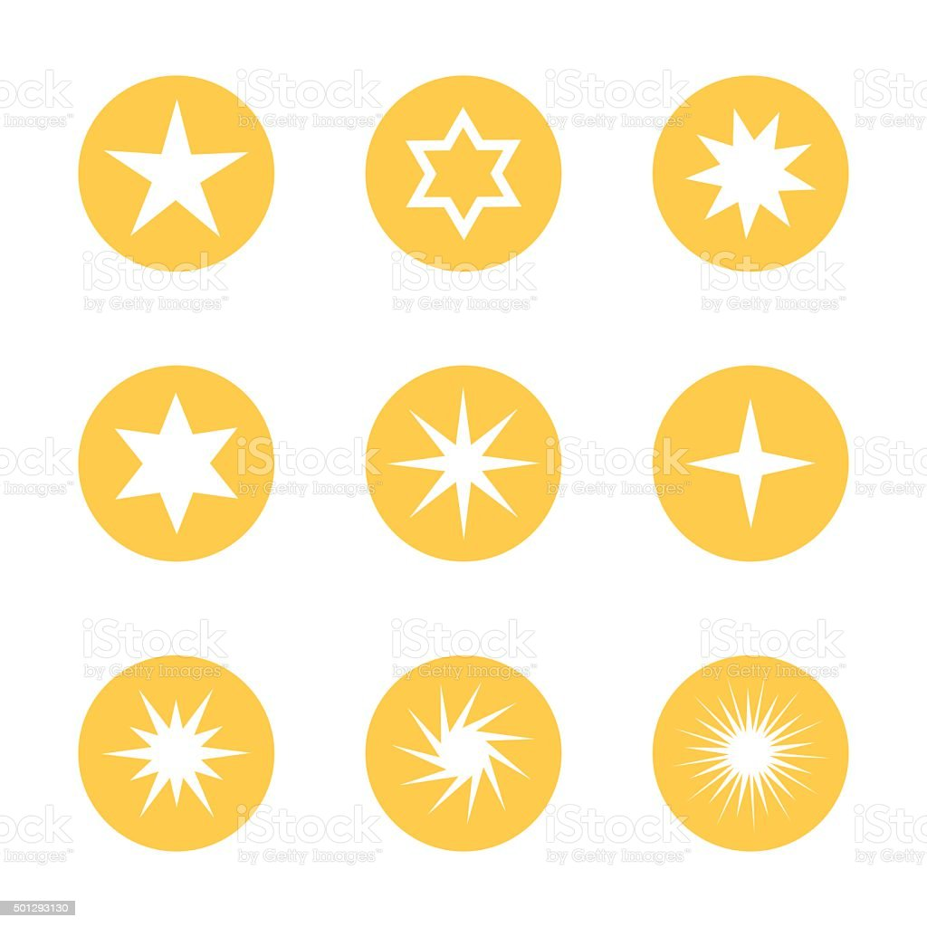 Stars collections vector art illustration