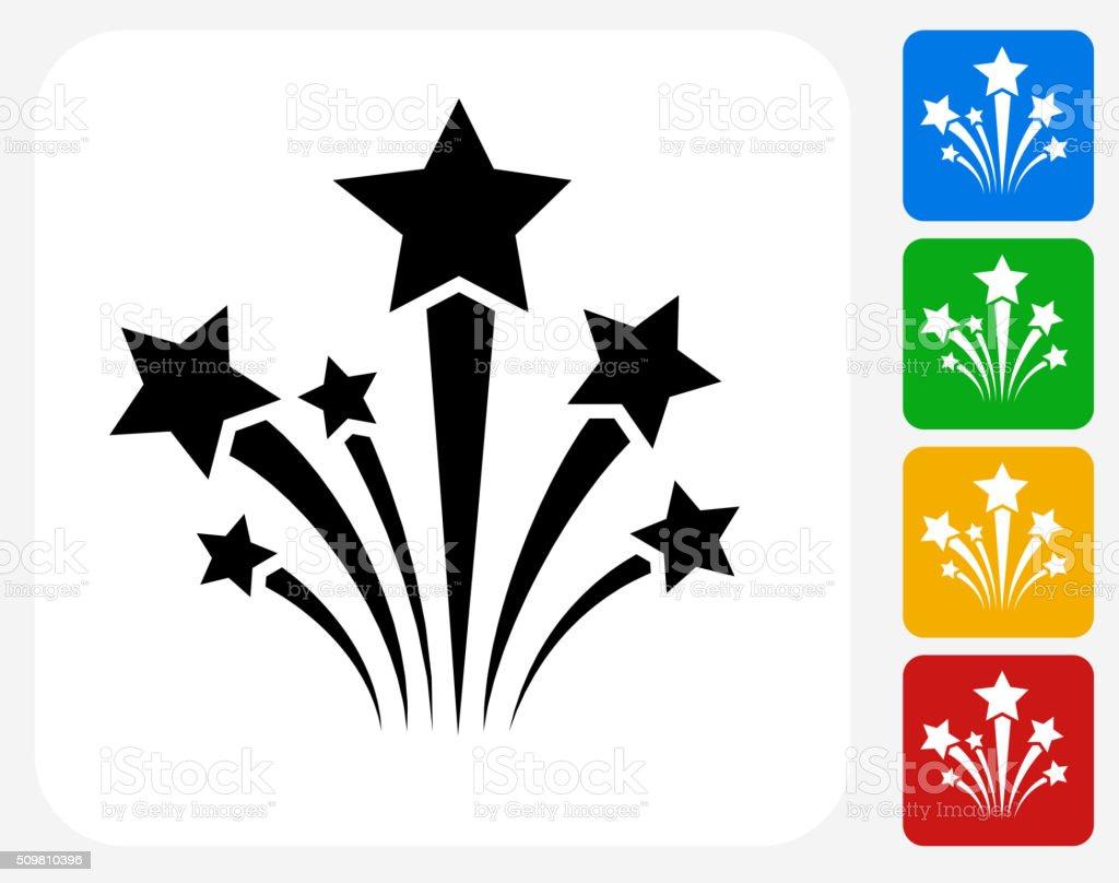 Stars Icon Flat Graphic Design vector art illustration