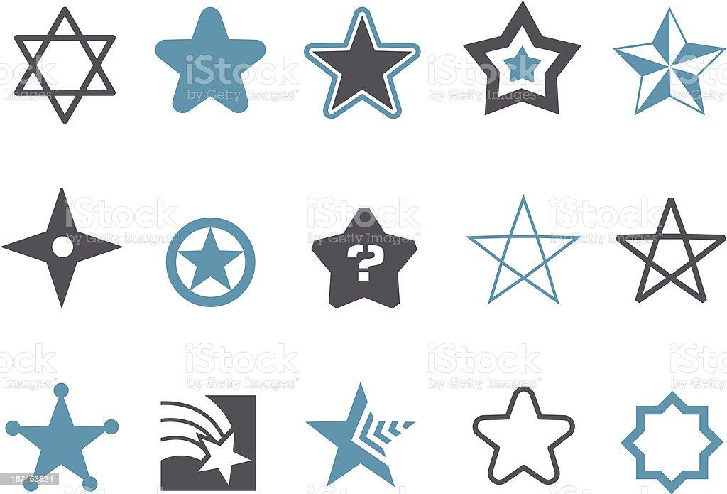 Stars Icon Set royalty-free stock vector art