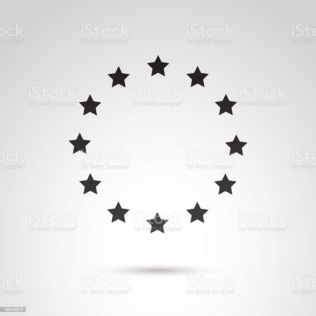 Stars in circle. vector art illustration