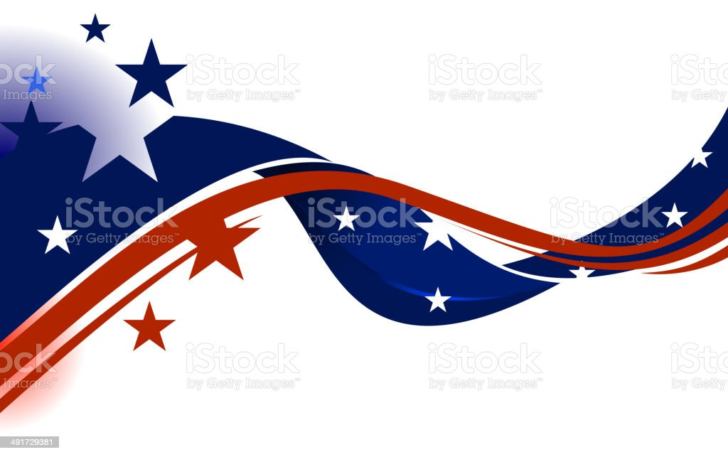 Stars n Stripes vector art illustration