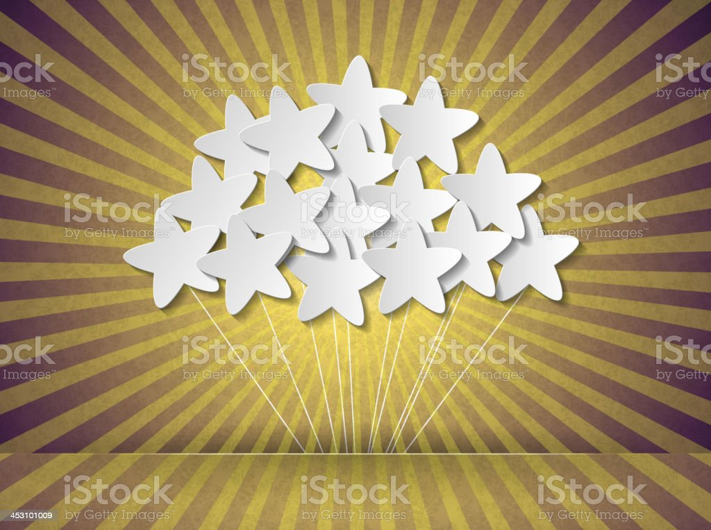 Stars on the ropes royalty-free stock vector art
