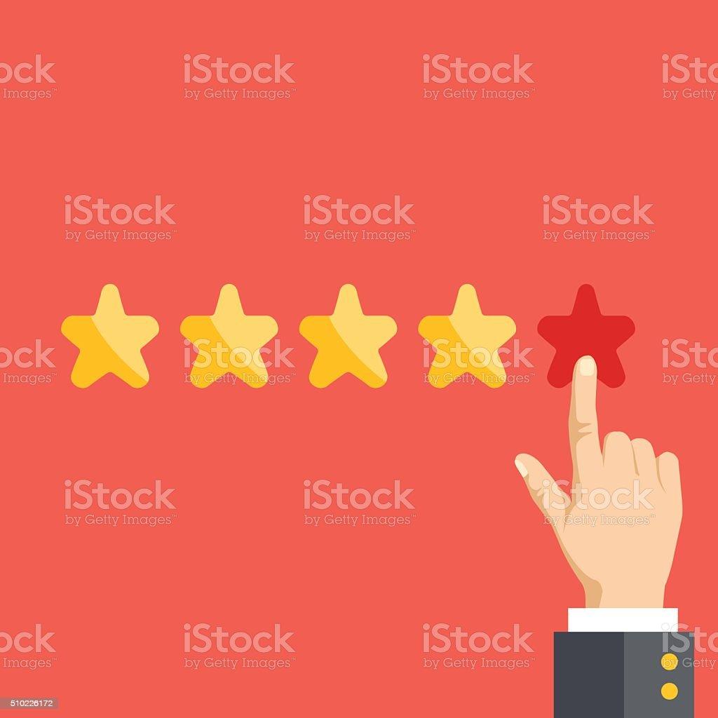 5 stars. Positive feedback, best quality concept vector art illustration