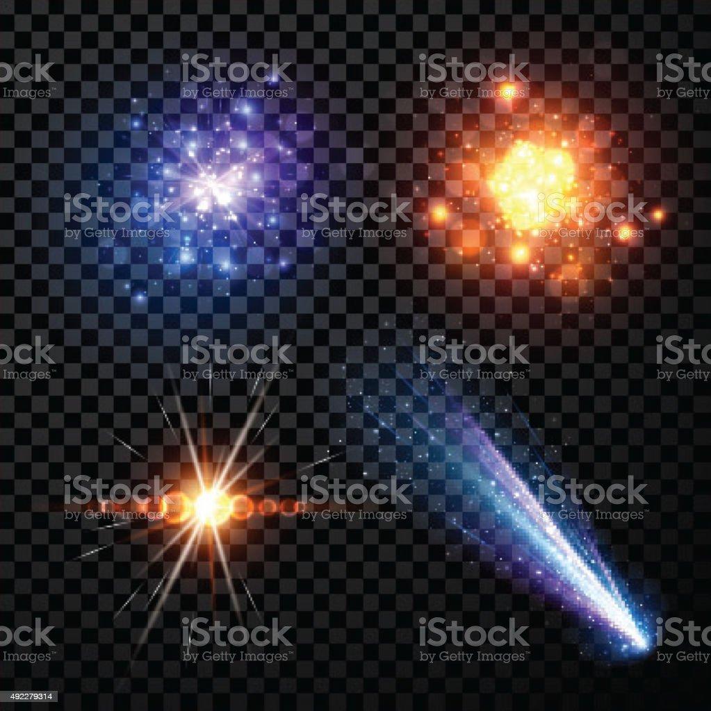 Stars set background vector art illustration