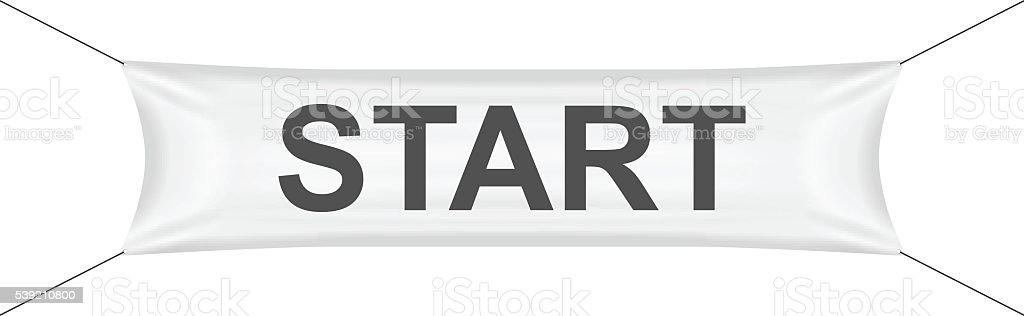 Start banner vector art illustration