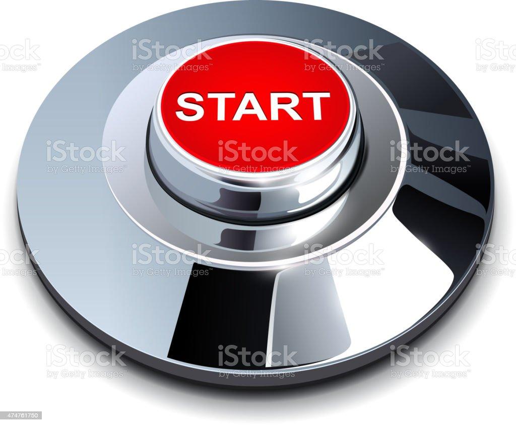 Start button vector art illustration