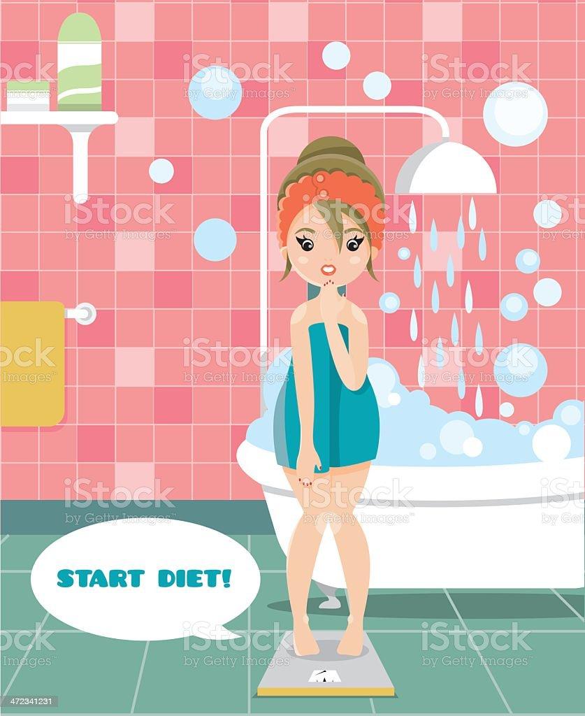 Start diet! royalty-free stock vector art