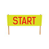 Start flat Banner