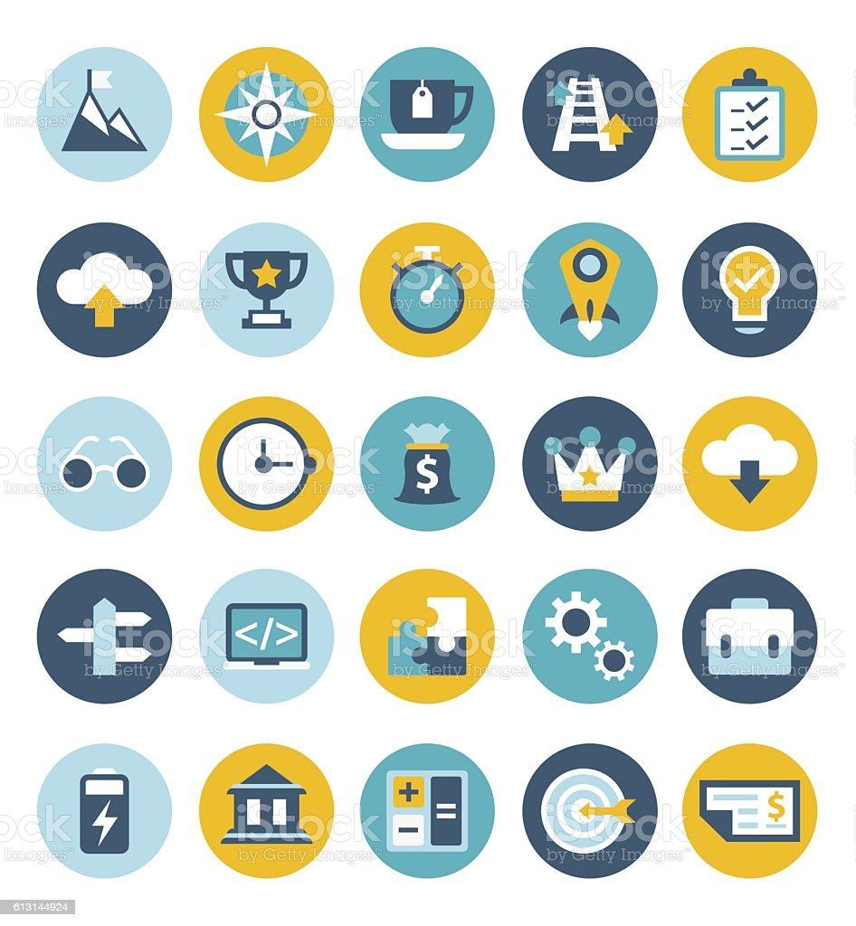 Start up icon set vector art illustration