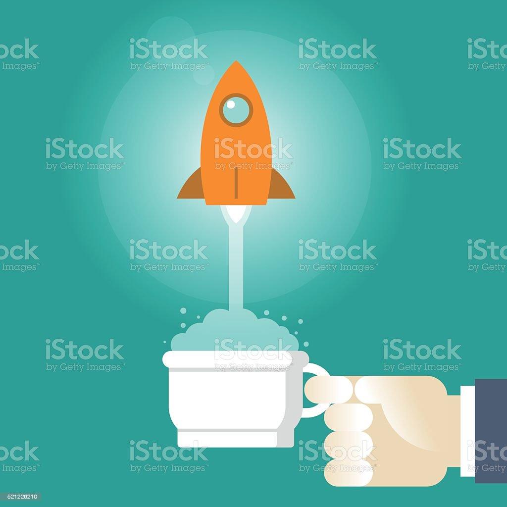 start up vector art illustration