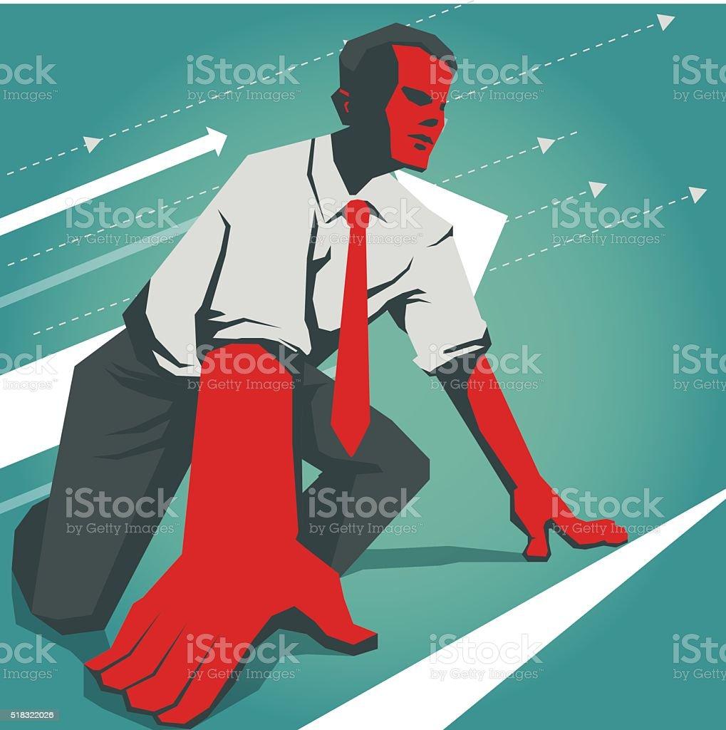 start vector art illustration