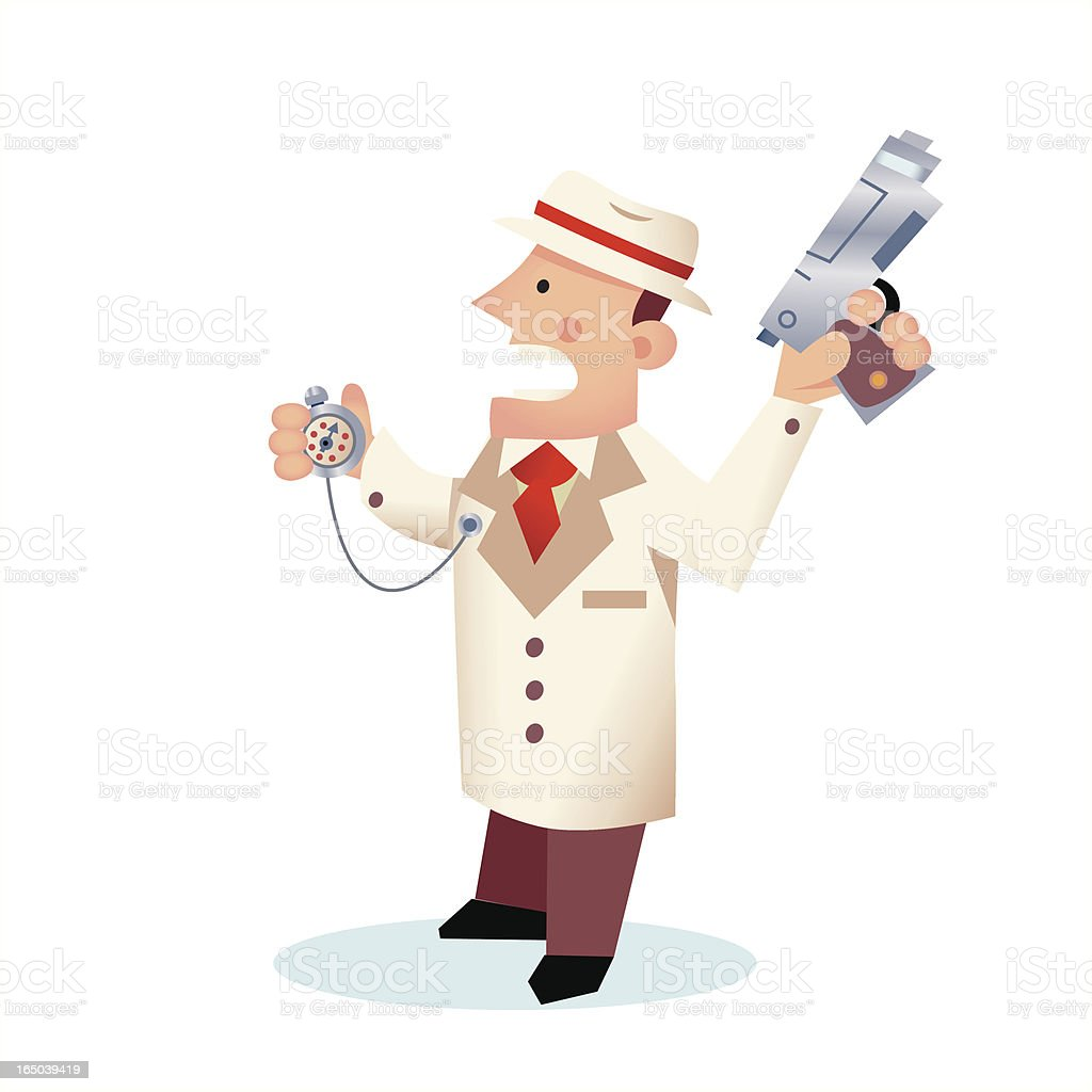 Starting Gun royalty-free stock vector art