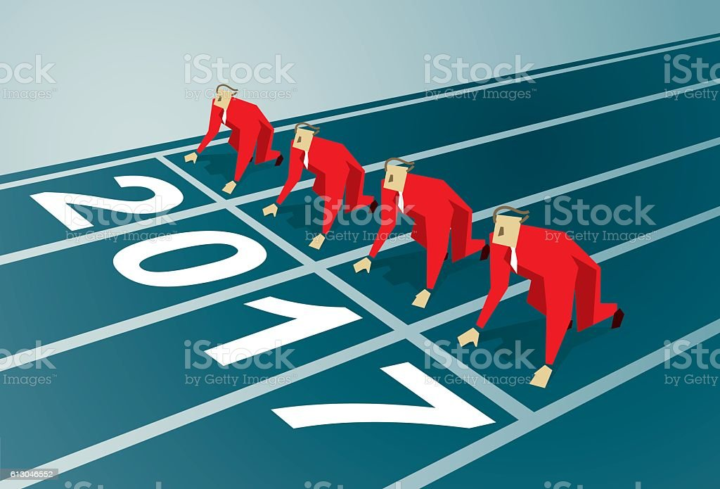 Starting Line vector art illustration