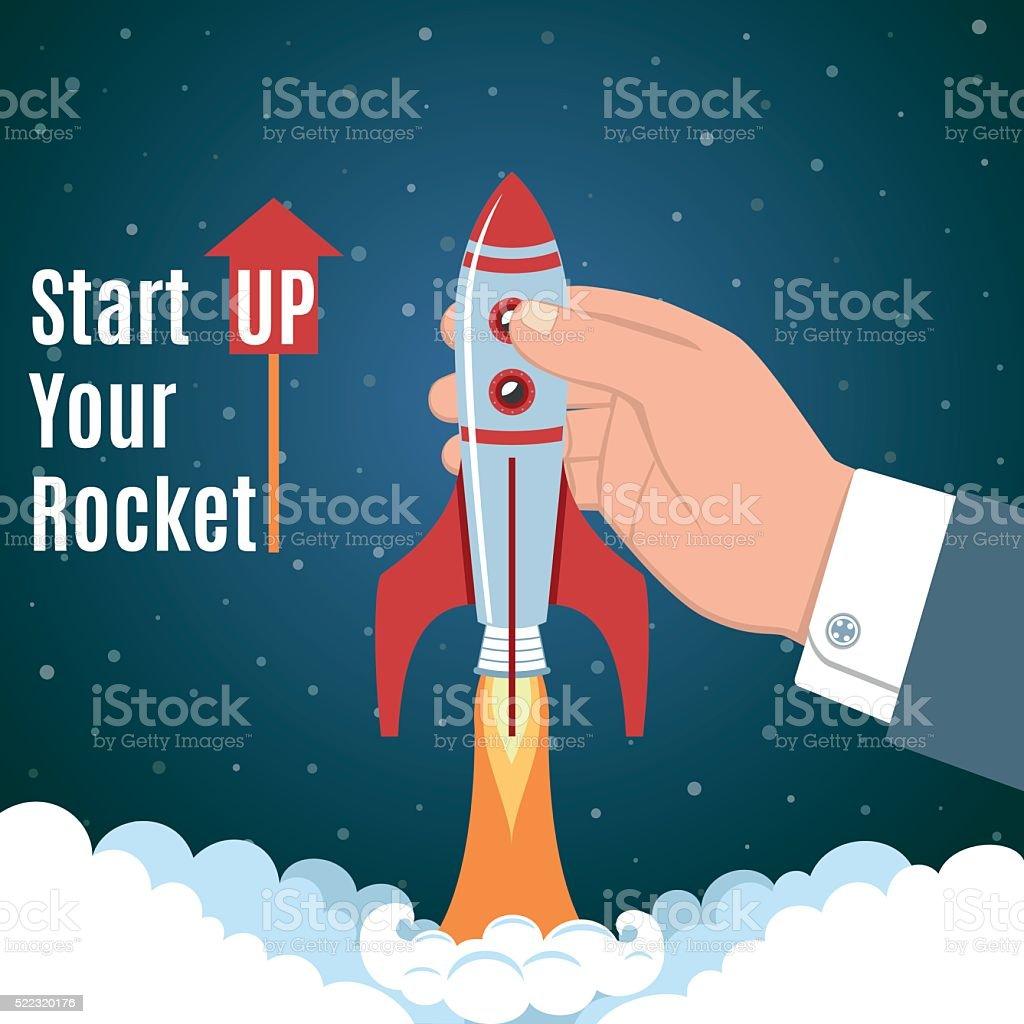 Startup Business Concept vector art illustration