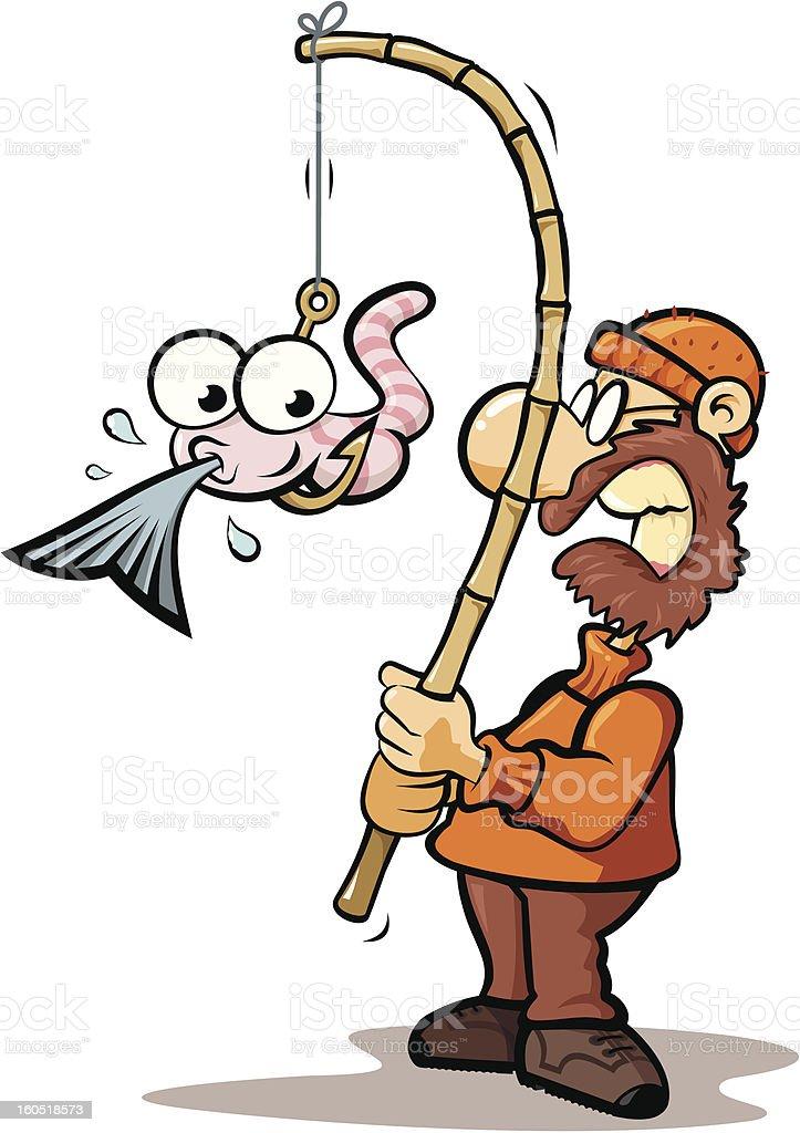 Starving bait vector art illustration