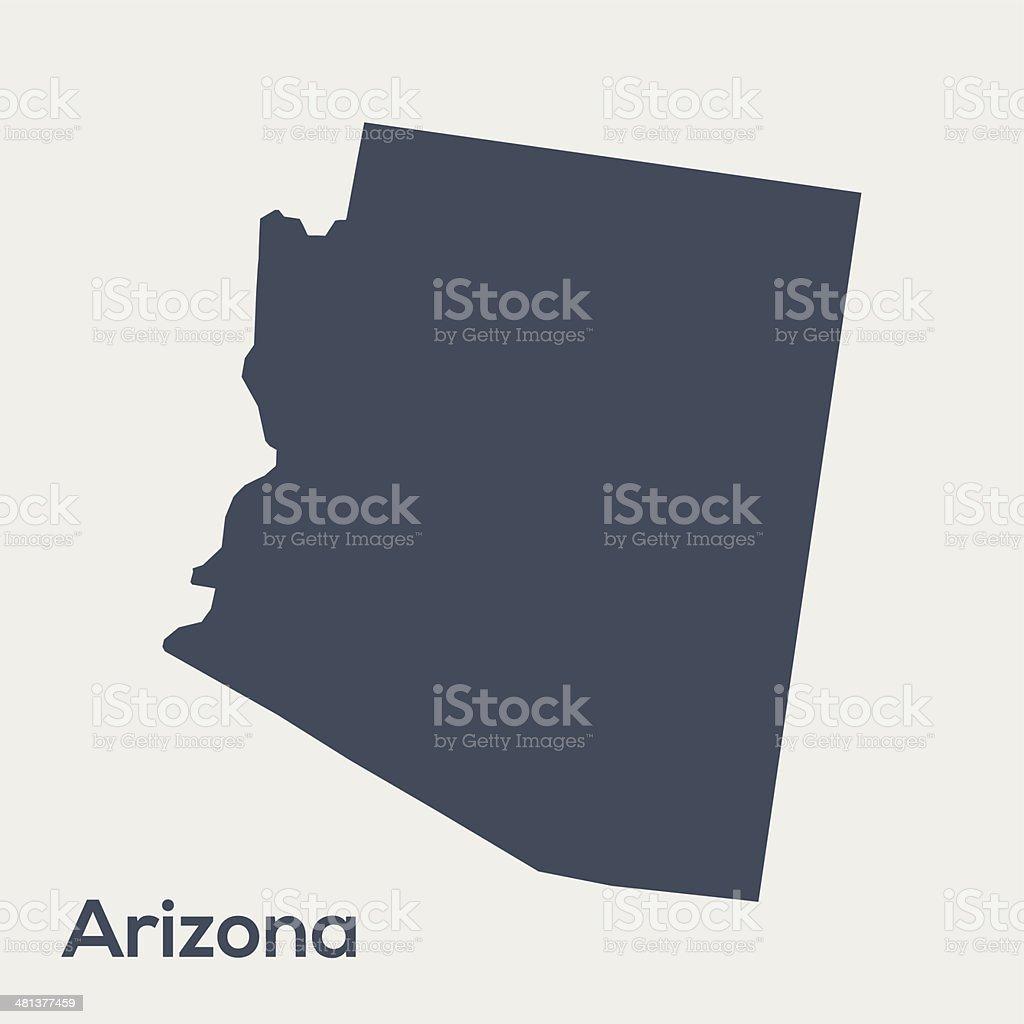 USA state Arizona vector art illustration