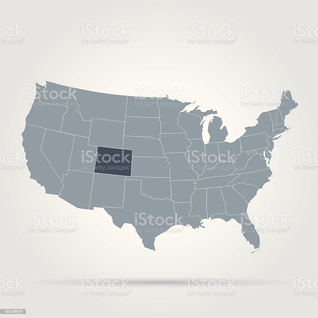 USA state Colorado vector art illustration